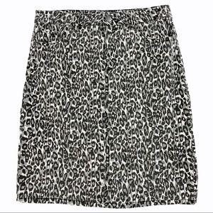 Snow Leopard Stretch Jean Skirt